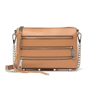 NWT Rebecca Minkoff Triple Zipper Mini Bag